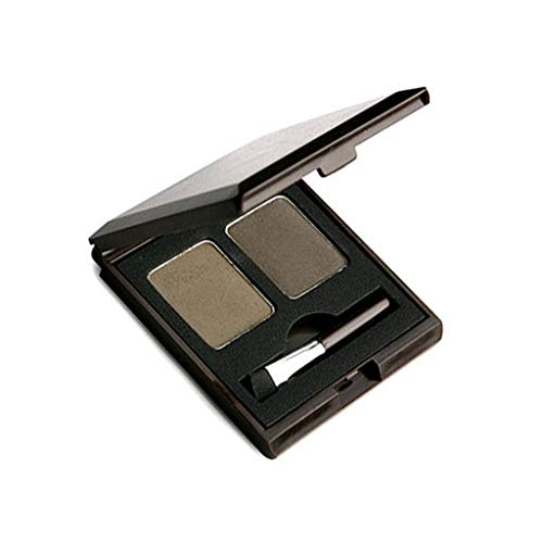 SKIN FOOD Choco Eyebrow Powder Cake (#1 Grey Khaki Black) - Eyebrow Powder Duo, Natural Eyebroow Makeup, Natural Cacao Elemnet Contained