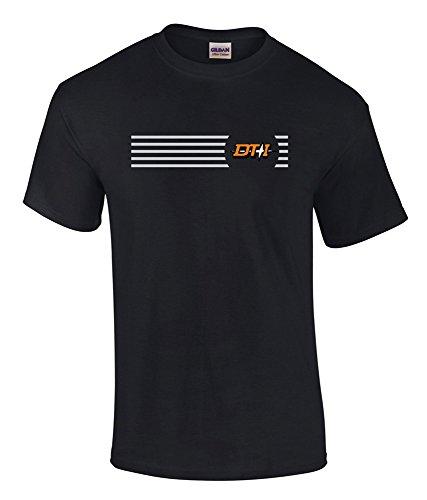Detroit Toledo and Ironton Logo Tee Shirt Navy Adult 2XL [tee73]