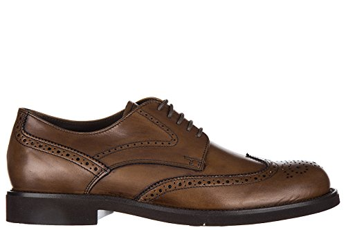 Tods Clásico Zapatos de Cordones Hombres EN Piel Nuevo Derby Allacciato bucatur