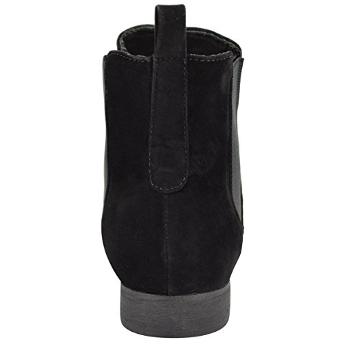 cb87e8360e31 Fashion Thirsty Womens Flat Low Heel Chelsea Ankle Boot Elastic Gusset Pull  On Riding Heel Boots