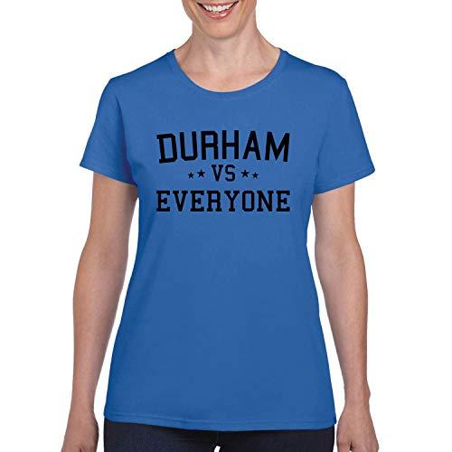 Durham Vs Everyone City Pride Womens Graphic T-Shirt, Royal, Medium -