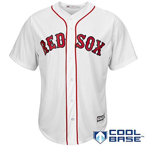 Boston Red Sox Blank White Youth Majestic Cool Base Home Jersey (Large 14/16)