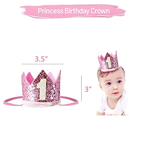 Baby 1st Birthday Decoration For Girl,First Birthday Decoration,Number 1 Crown,\