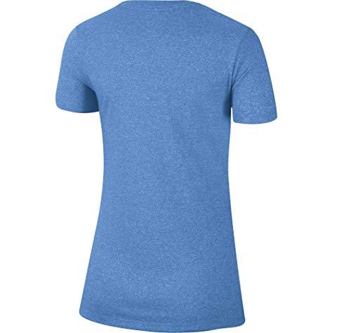 Nike Women's North Carolina Tar Heels Carolina Blue Marled Crew T-Shirt 2