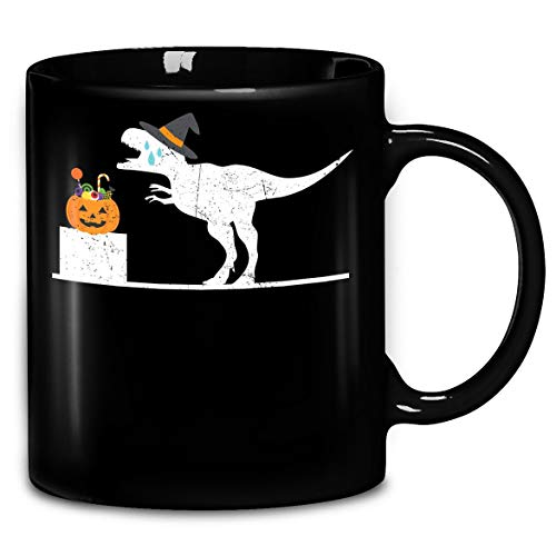 Distressed T-Rex Witch Halloween Costume Funny Shirt Coffee Mug 11oz & 15oz Gift Tea Cups]()