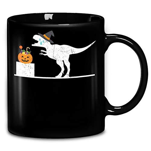 Distressed T-Rex Witch Halloween Costume Funny Shirt Coffee Mug 11oz & 15oz Gift Tea Cups -