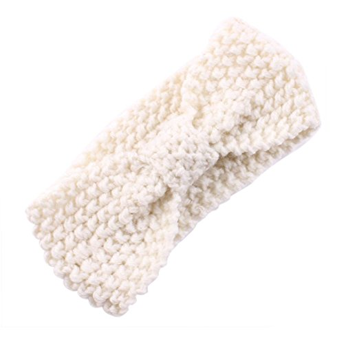 DZT1968® Baby Girl Wide Knit Turban Headband Head Wrap Hair Band Head Warm (Winter Headbands For Girls)