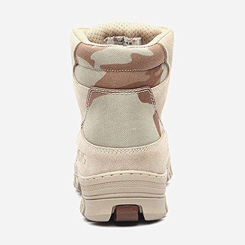 qiangren 3515zapatos de combate botas de cuero militar táctico