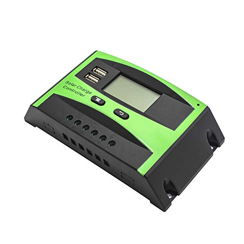 Griarrac 20A Solar Charge Controller PWM Solar Panel Intelligent Battery Regulator 12V 24V Auto Switch Dual USB LCD Display by Griarrac