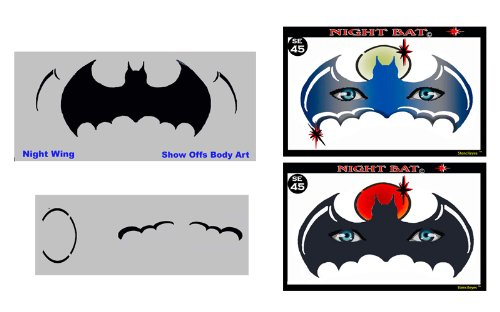 amazon com face painting stencil stencileyes night bat batman