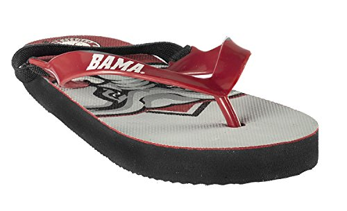 Forever Collectibles College Flip - Flop Elastic Back Youth 4-7 Size Medium (7-8) Pick Team - The University of Alabama -