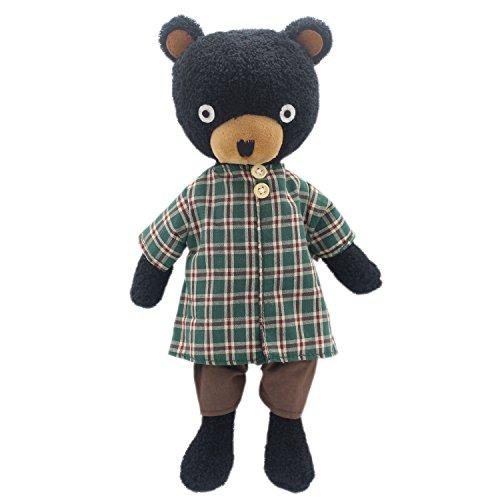 - JIARU Stuffed Animals Toys Teddy Bear Plush Dressed Dolls with Removable Clothes (Plaid Black, 14 Inch)
