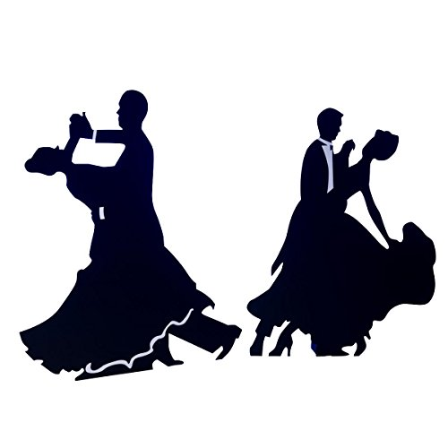 TCDesignerProducts Waltz with Me Dancers Life Size Black Cardboard Silhouette Kit, Set of 2, 5 Feet 5 Inches to 5 Feet 10 Inches High ()