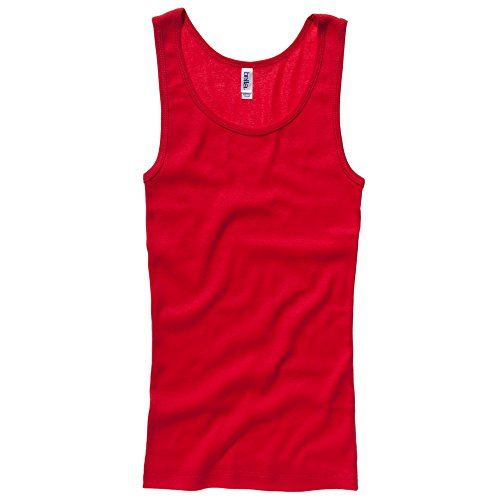 Bella+Canvas Baby rib tank top Red M