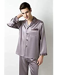 ... Pijama Hombre Verano Summer · 100 · 100% Mulberry Silk Satin Luxury Pajama Set Men Sleepwear Elegant Dress Set