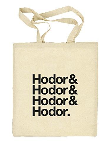 Hodor& Hodor& Hodor& Hodor. Natur Stoffbeutel Jute Tasche (ONE SIZE) Natur CZPbDodhP