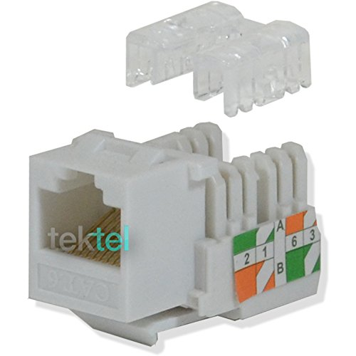 (CAT6 White Network Ethernet 110 Punchdown 8P8C Keystone Jack (100/pack))