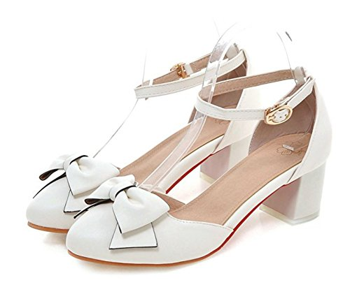 Aisun Women's Trendy Bows Pointed Toe Buckle Dress Ankle ...