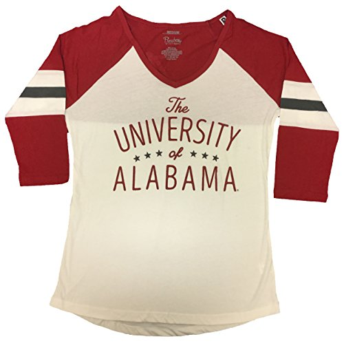 - Pressbox University of Alabama Pamona Raglan 3/4 Sleeve Shirt-Medium