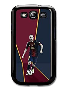 AMAF ? Accessories Andres Iniesta FC Barcelona Red Blue Football case for Samsung Galaxy S3
