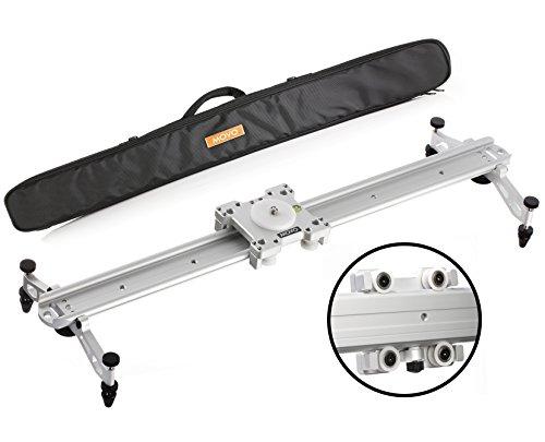 "Movo MV-S60 23 ""سیستم کشویی آهنگ کشویی دوربین با بستر بلبرینگ غلتکی ، پاهای قابل تنظیم ، کنترل تنش و موارد دیگر (نقره)"