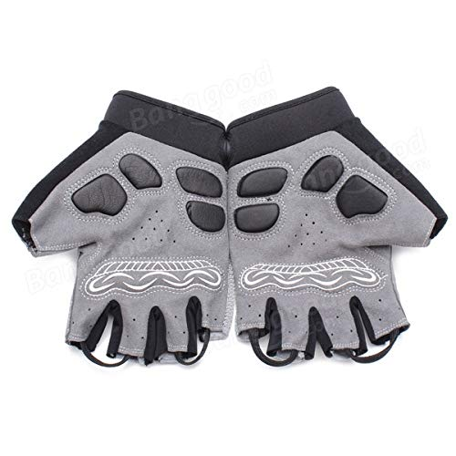Bicycle Bike Cycling Gloves LED Lighting Half Finger Gloves by Anddoa (Image #8)