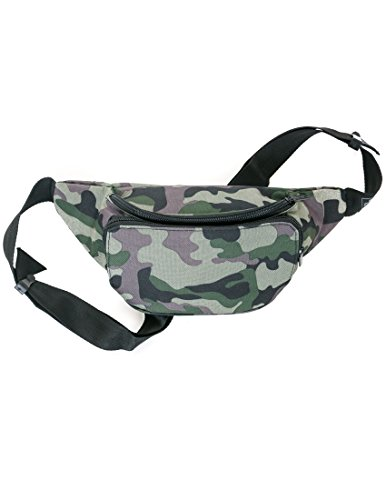 FYDELITY- Slim BUM BAG: Hipster Fanny Pack CAMO | Camouflage, Army, Military