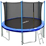 Zupapa 10 Ft TUV Approved Trampoline with Ladder, Outdoor Trampoline with Enclosure net and Safety...