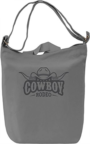 Wild west cowboy rodeo Borsa Giornaliera Canvas Canvas Day Bag| 100% Premium Cotton Canvas| DTG Printing|