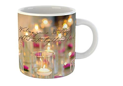 Giftowl Happy Birthday Joy And Light Ceramic Coffee Mug For Friend, Girlfriend & Boyfriend Glossy Finish With Vibrant Print