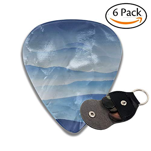Alpine Foggy Landscape In The Transylvanian Alps Romania Stylish Celluloid Guitar Picks Plectrums For Guitar Bass .6 Pack 71mm