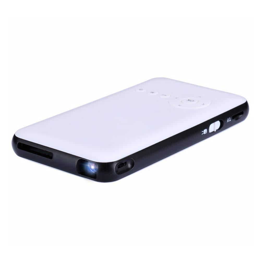 スマートミニポータブルプロジェクタービデオDLPホームシネマポケットプロジェクターHDサポート1080P HDMI入力デュアルステレオ B07P9T6TDQ