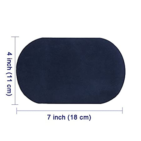 Repair Patches by Beaulegan Navy 4 PCS Elbow Knee Iron-on Velvet Patches