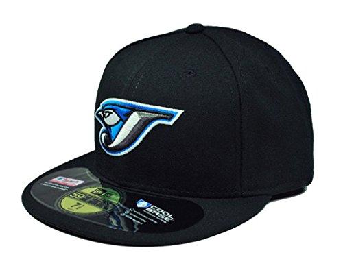 New Era 59Fifty Hat MLB Toronto Blue Jays Black Team Fitted Cap (7 1/4)
