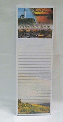 (Connecticut Lighthouse Magnetic Notepad Sunset Boat Shoreline )