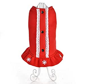 Christmas pet clothes dresses clothes for small dogs and cats