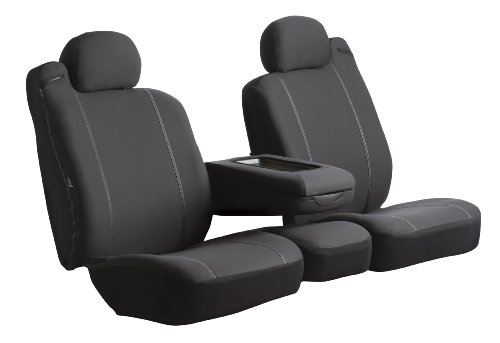 20 Front Split Seat - FIA SP88-16 BLACK Custom Fit Front Seat Cover Split Seat 40/20/40 - Poly-Cotton, (Black)