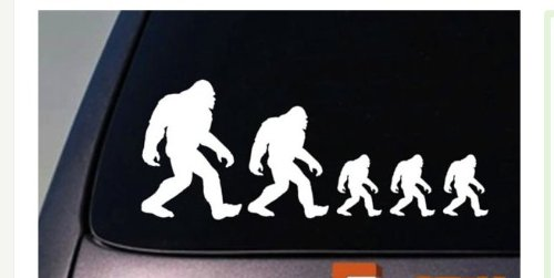 EZ-STIK Bigfoot Family Sticker Stick Figure Decal Sasquatch Yeti Car Truck Window LaptopA048