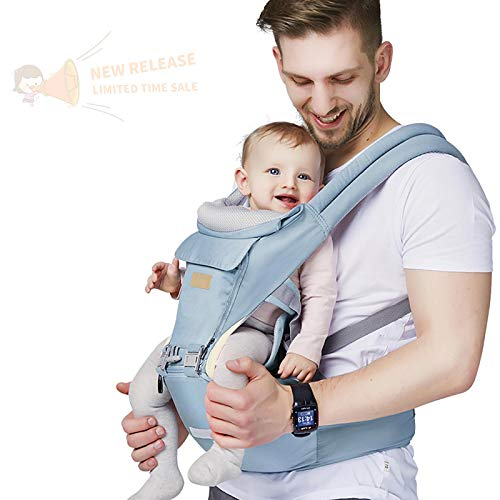 Baby – Carrier, 6-in-1 Baby Carrier with Waist Stool-, FRUITEAM Baby Carrier with Hip Seat for Breastfeeding, One Size…