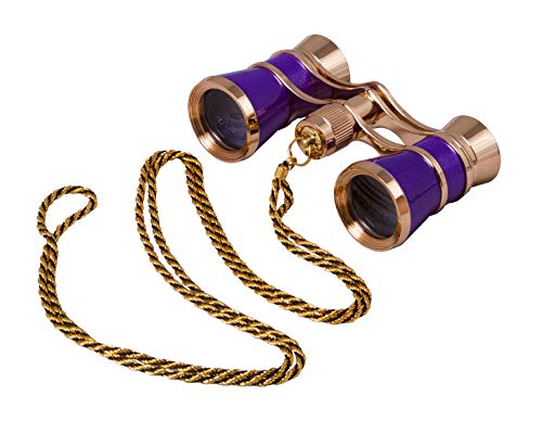 Levenhuk Broadway 325C Amethyst Opera Glasses – Theater Binoculars with Removable Chain