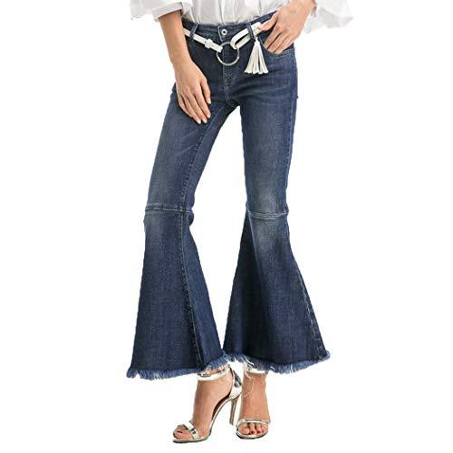 en Elastique Denim Jeans Femme Pants Haute HANMAX Evas Casual Bleu Pantalons Mode Taille Slim 5Ywn0qX
