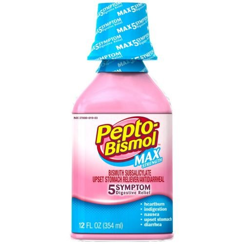 Pepto-Bismol Original Max Strength Upset Stomach Reliever Anti Diarrheal Liquid, 12 Fluid Ounce -- 12 per case. by Procter And Gamble