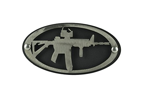 - AR-15 Hitch Cover Brushed Finish 2 inch Hitch | Hitch for Trucks | Hitch Cover Plug | Patriotic Decor | Gun Hitch | 2nd Amendment | Hitch Covers | Patriotic Hitch Cover | M-16 | M16 | M4 | AR | AR15