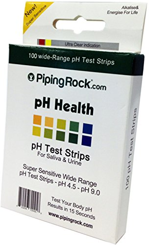 Piping Rock PH Test Strips for Saliva and Urine 100 Count Super Sensitive Wide Range