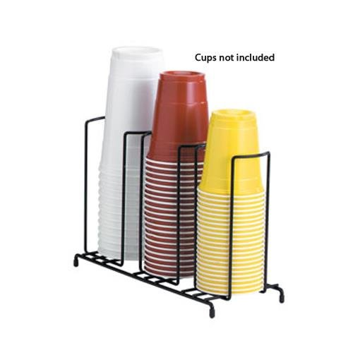 Dispense Rite WR Black Wire Rack Cup and Lid Organizer, 8 1/2 x 18 1/2 x 5 inch - 3 per case.