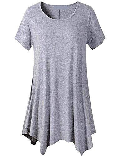 Irregular Casual Modern T Tshirt Collo Moda Shirt Manica Monocromo Eleganti Accogliente Magliette Baggy Shirt Corta Giovane Moda Donna Shirt Stile Top Rotondo Estivi q1ywYZ7