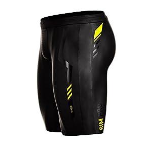 ROKA Men's SIM Pro II Neoprene Buoyancy Shorts for Swimming Racing and Triathlon