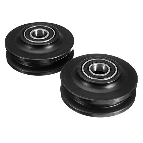 QOJA 2pcs sliding barn door wheel 70x34x15mm pom lifting pulley