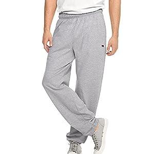 Champion Men's Closed Bottom Light Weight Jersey Sweatpant, Oxford Grey, X-Large
