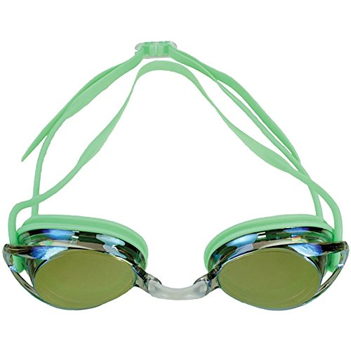 - Water Gear Metallic Vision Swim Goggles Anti-fog Junior fit for Competition - LIME